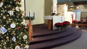 Christmas Eve church decorations